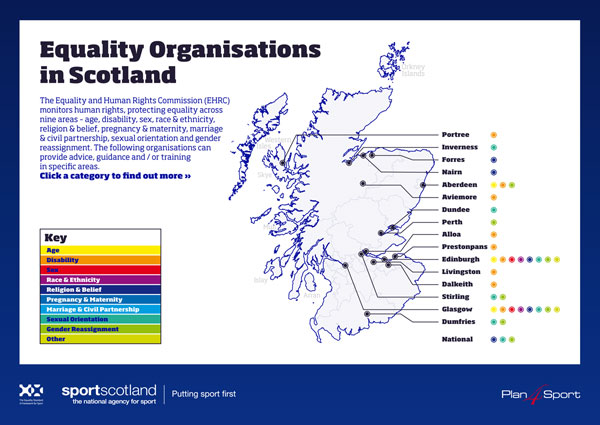 SportScotland interactive equality map