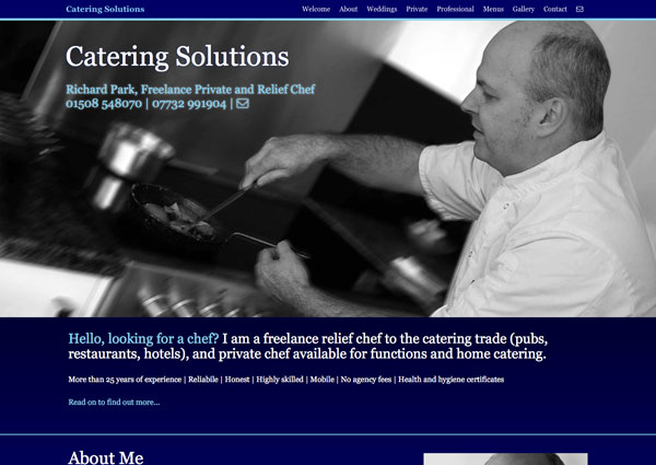 Catering Solutions website
